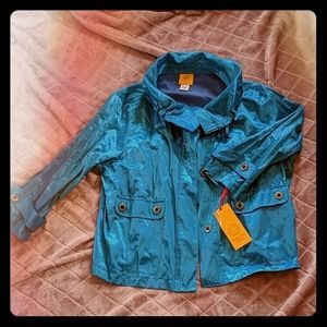 NWT Ruby Rd Teal Lightweight Jacket